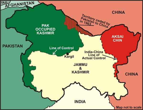 Current Map of Kashmir
