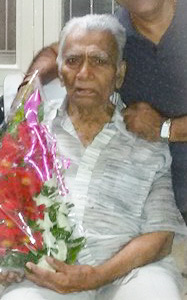 Peacefully passing of Shri Dhurabhai Patel Bhavanipura
