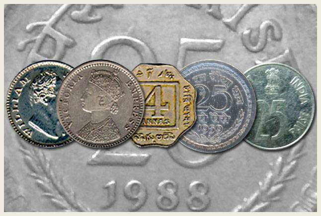 Evolution of the 25 paise coin
