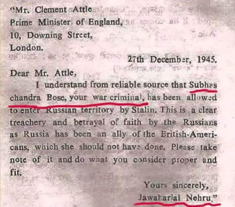 Letter from Nehtu to Atle About Subhash Chandra Bose.jpg