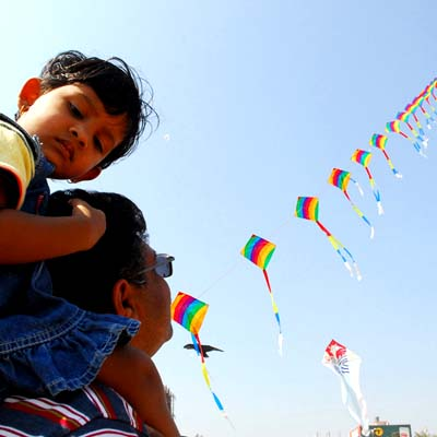 Kite Flying Houston 2014 at VPSS - Uttarayan