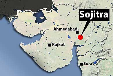 Sojitra on Map