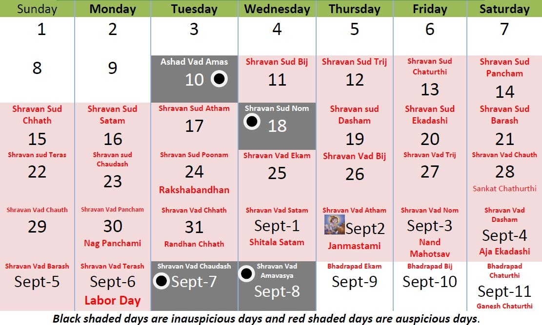 Shravan Month Calendar Significance of Festival