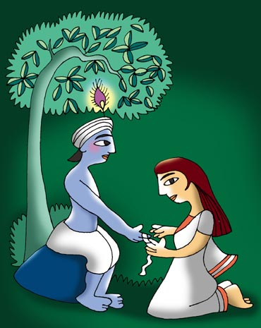 Rakhi Lord Krishna and Draupadi