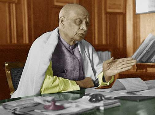 Sardar Patel - Policy for separation in Gujarati