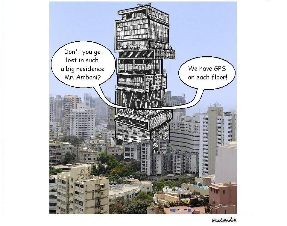 Ambani House With Gps