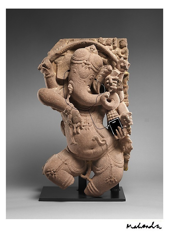 Ganesh With Iphone
