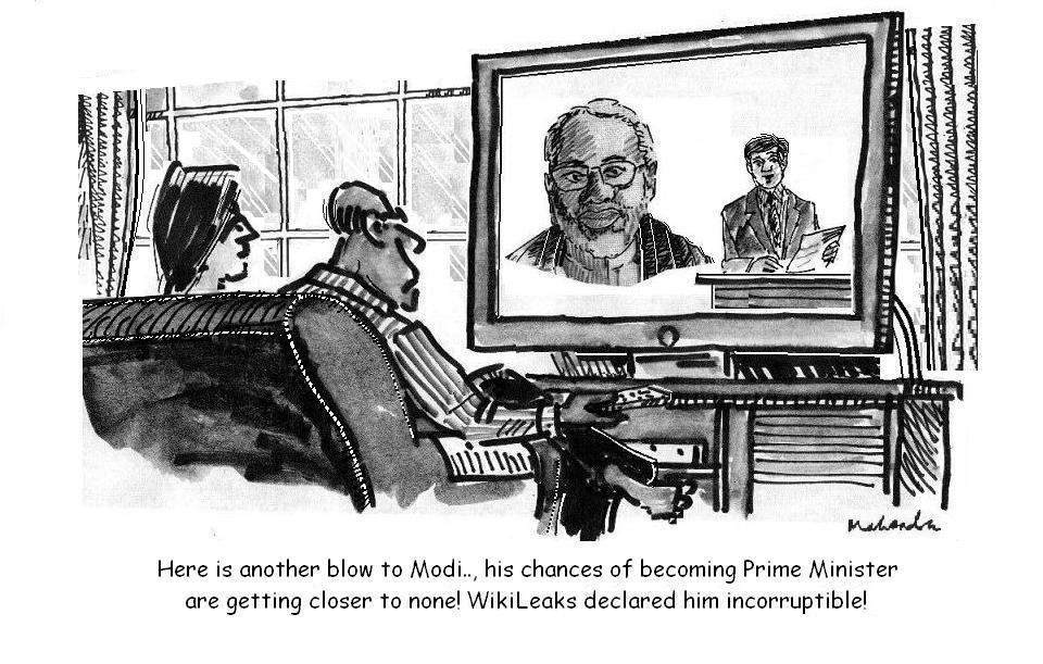 Cartoon of the Week: Modi And Wiki Leaks