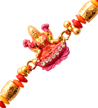 Beaded Lakshmi Rakhi Thread