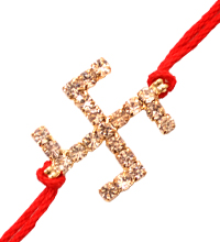 Rakhi Thread with Swastika
