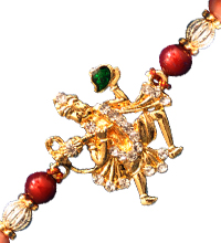 Beaded Rakhi Thread with Hanuman Motif