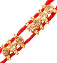 Fancy Red Rakhi Thread